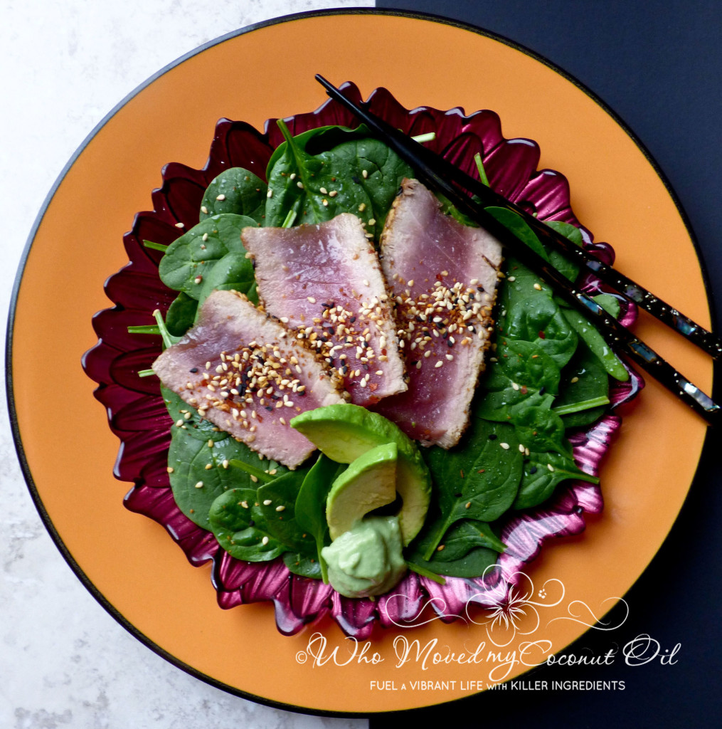 Ahi Tuna Divided Plate